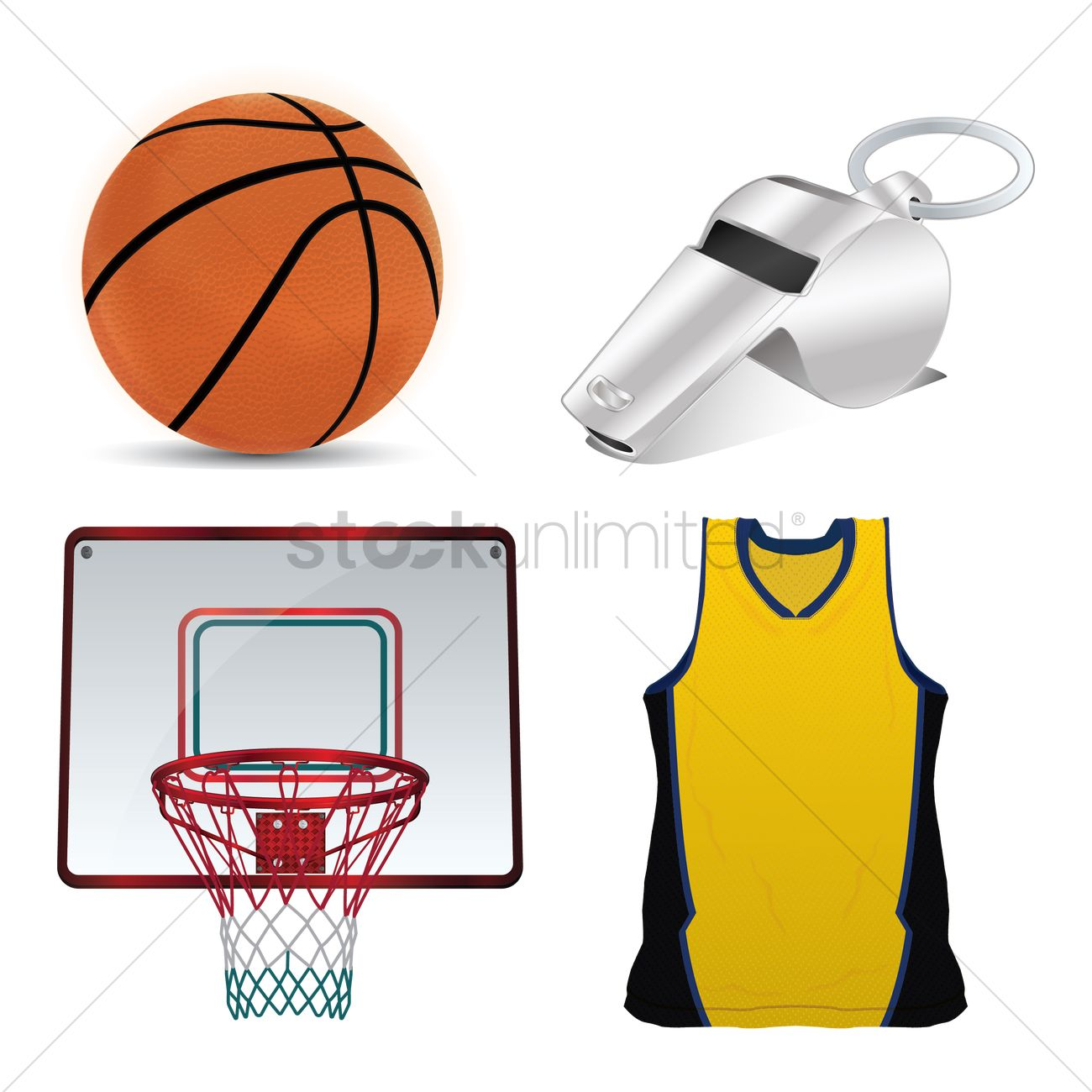 Basketball equipment Vector Image.