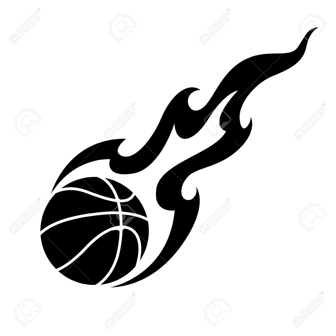 Basketball Fire Cliparts Free Download Clip Art.