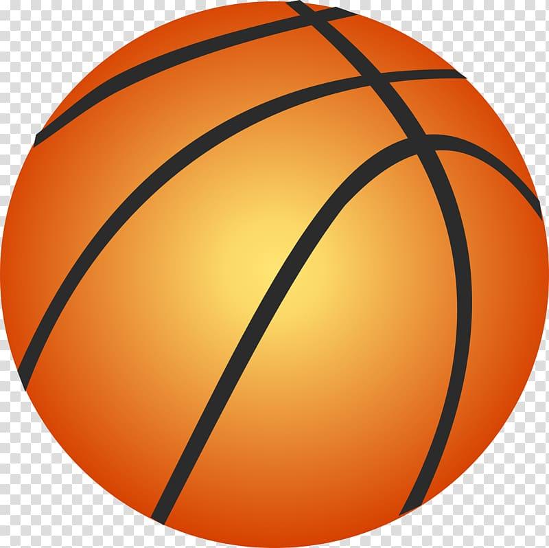Orange and yellow basketball illustration, Basketball.