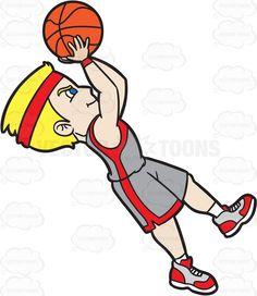 Basketball Player Shooting Clipart.