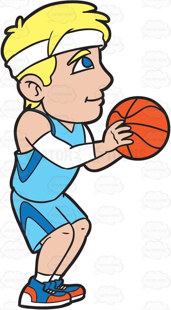 A Male Basketball Player Shooting A Free Throw #cartoon #clipart.