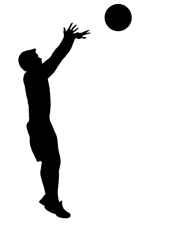 Man Shooting Basketball Clipart.