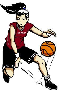 Girls Basketball Team Clipart.