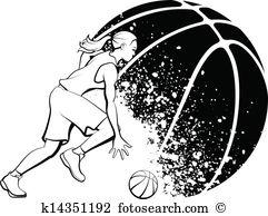 Basketball girl Clipart and Illustration. 844 basketball girl clip.