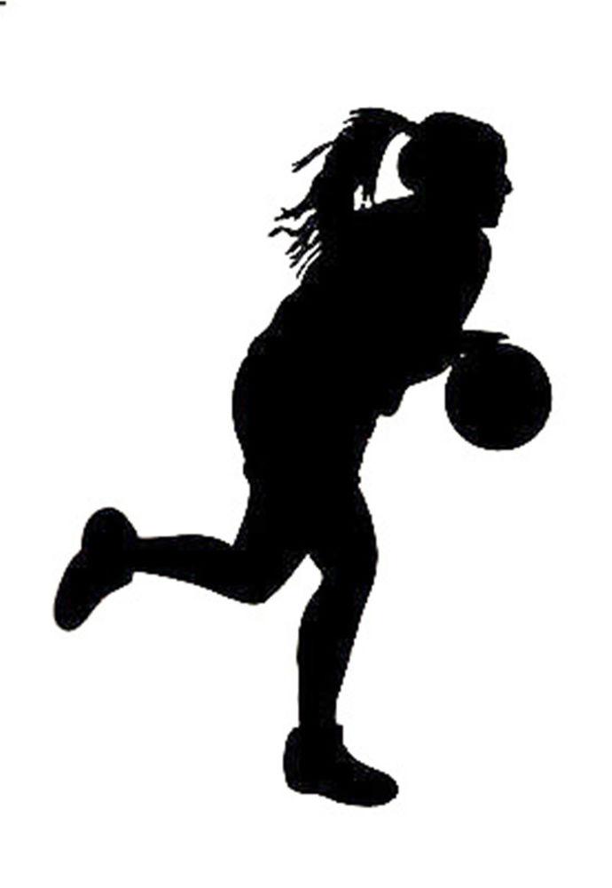 Girls basketball silhouette clip art