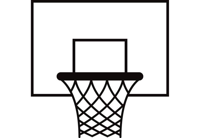 Basketball Hoop #1 Backboard Goal Rim Basket Net Sports Game Icon Logo .SVG  .EPS .PNG Instant Digital Clipart Vector Cricut Cut Download.
