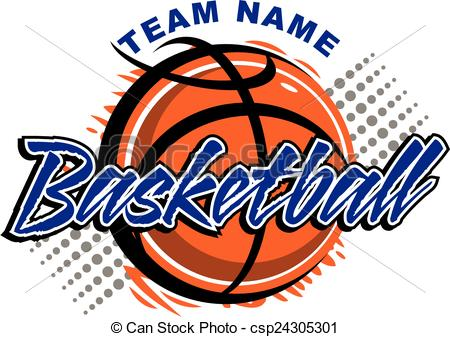 Vector Clipart of basketball design.