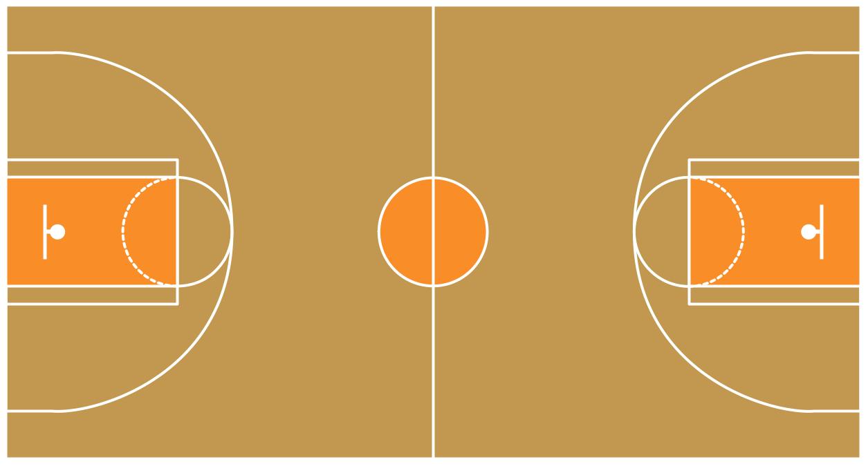 Basketball Floor Cliparts.