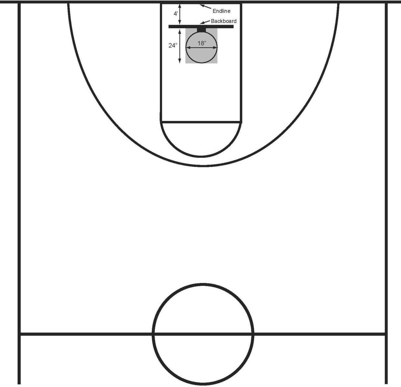 Basketball half court clip art.