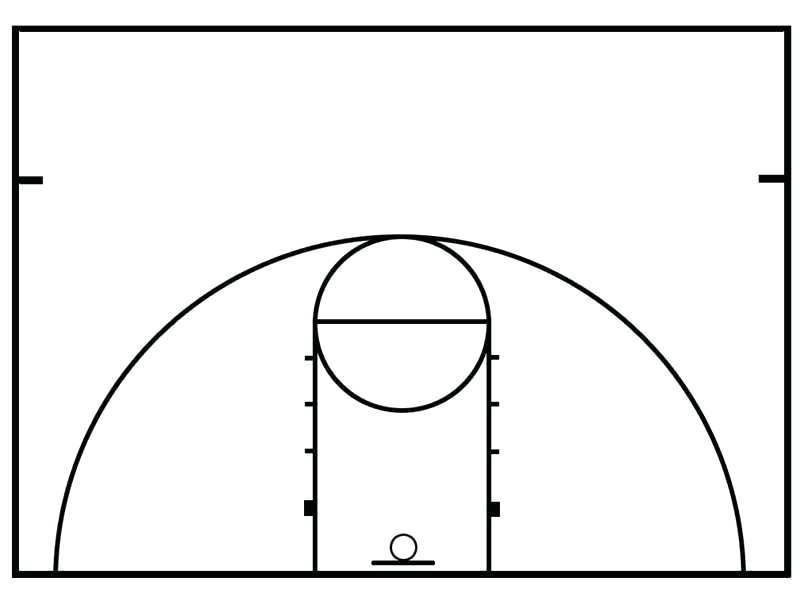 Collection of Basketball court clipart.
