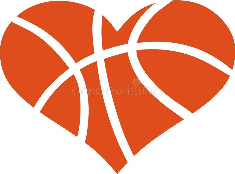 Basketball Heart Stock Illustrations.