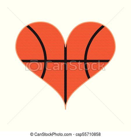 Basketball heart Vector Clipart EPS Images. 889 Basketball heart.
