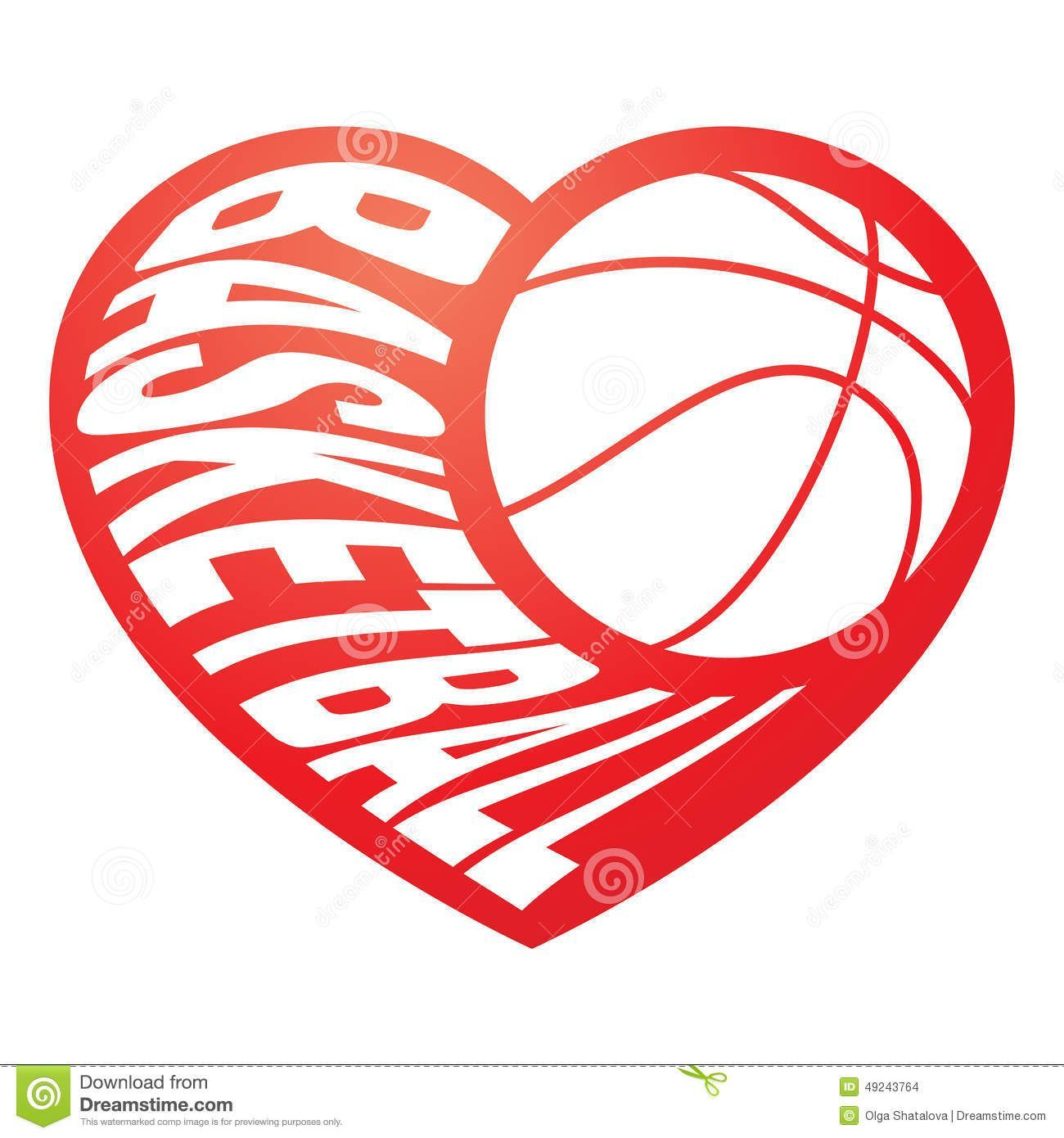 Basketball heart clipart black and white 3 » Clipart Portal.