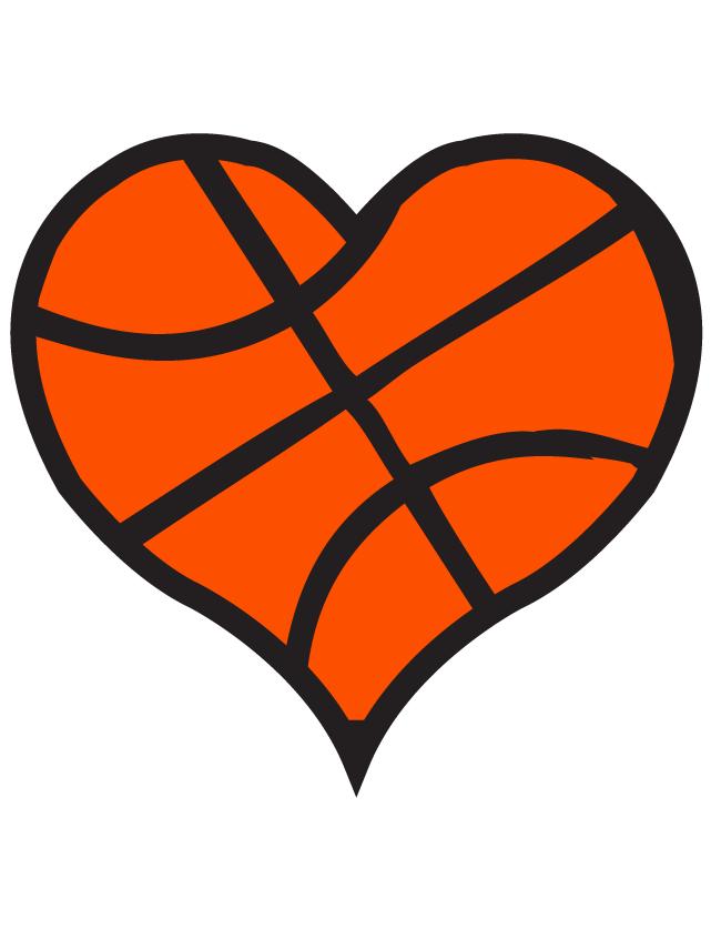 Heart clip art basketball.