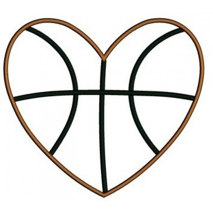 Basketball Heart Clipart Black And White.