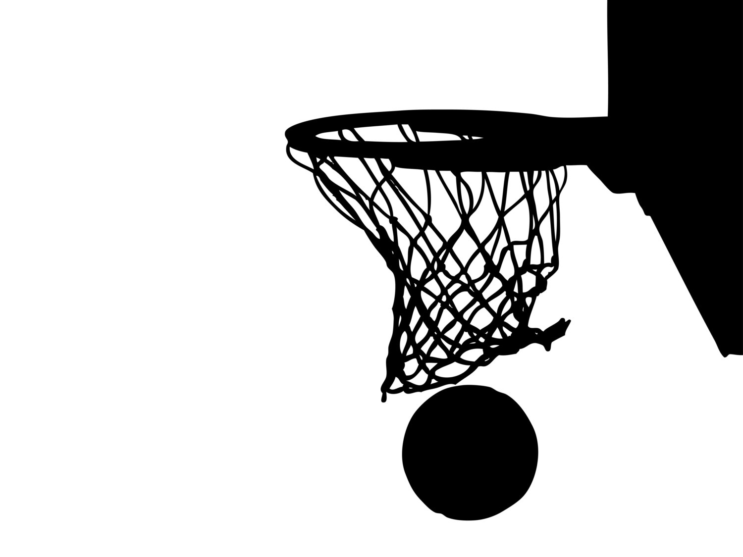 Clip art basketball hoop.