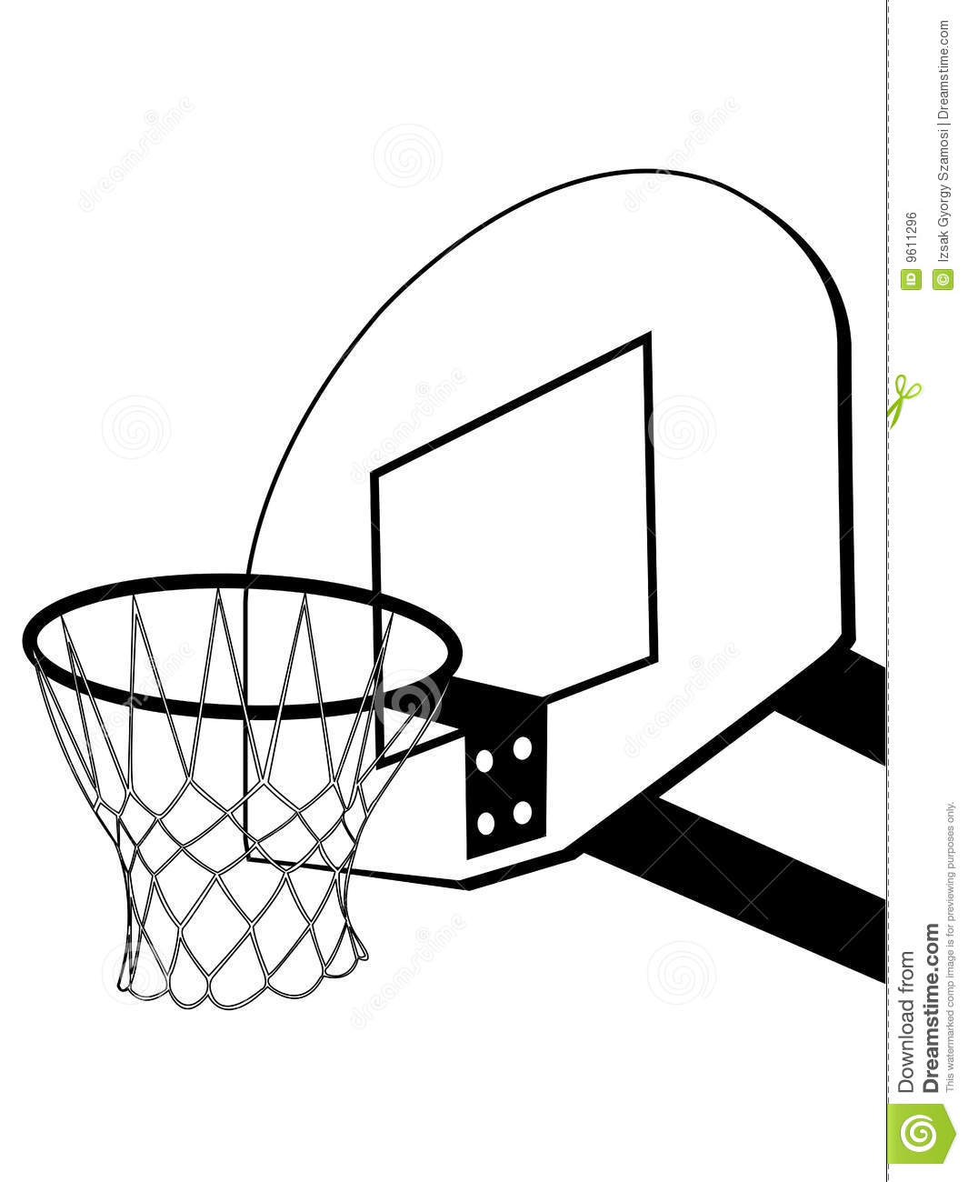 Picture Of A Basketball Hoop.