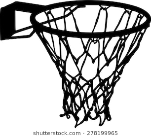 Basketball net clipart black and white 2 » Clipart Station.