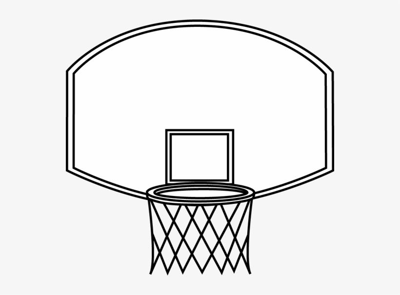 Black And White Basketball Backboard Clip Art.