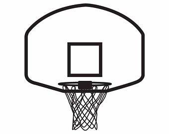 Basketball net svg.