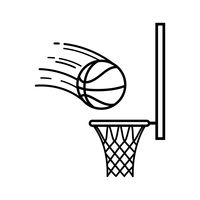 Basketball Hoop Black And White.