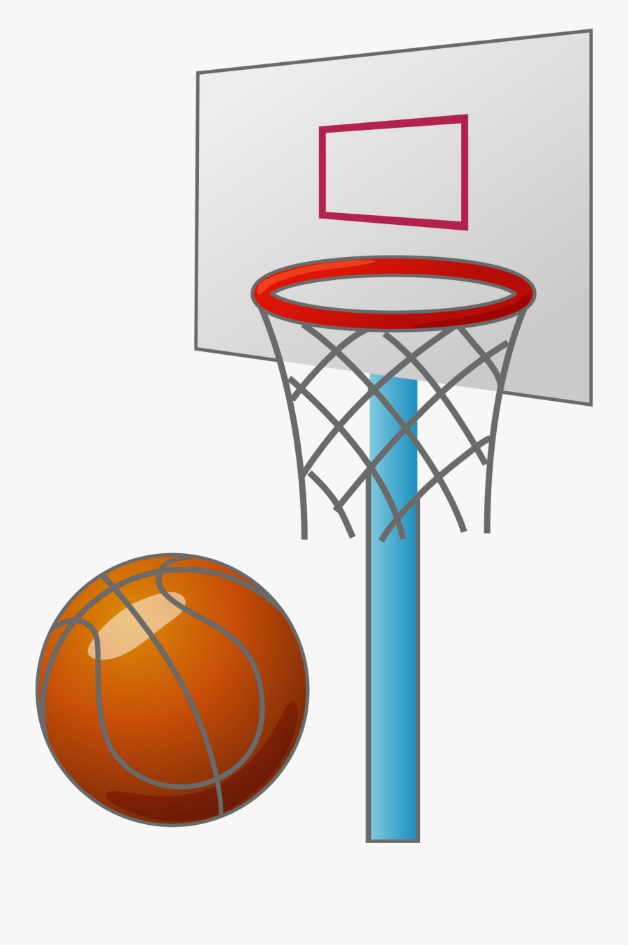Cartoon Basketball Backboard Basketball Court.