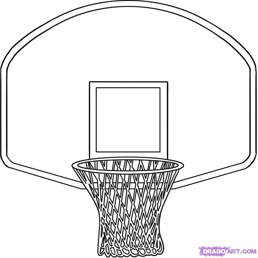 Basketball hoop clipart black and white 5 » Clipart Portal.