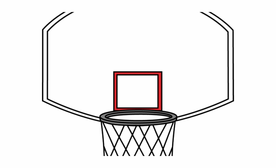 Basketball With Net Clipart.
