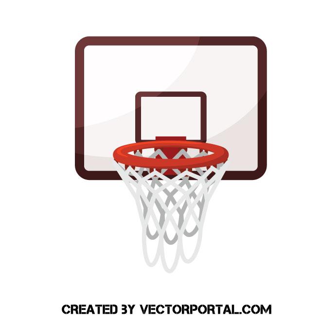 Basketball hoop vector clip art.
