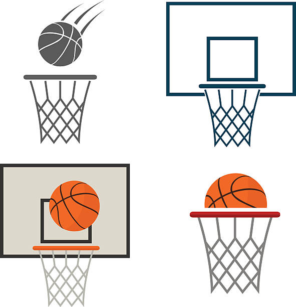 Basketball Rim And Net Clipart.