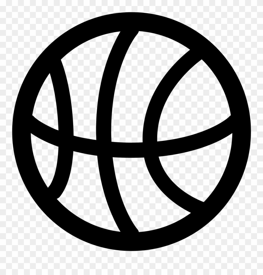 Basketball Icon Black And White , Png Download.
