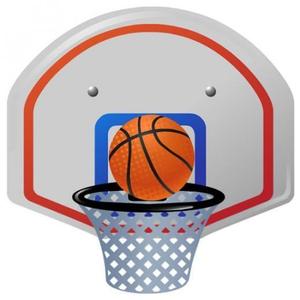 Free Clipart Basketball Goal.