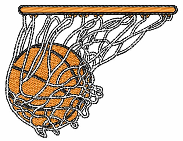 17582 Basketball free clipart.