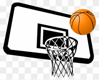 Free PNG Basketball In Net Clip Art Download.