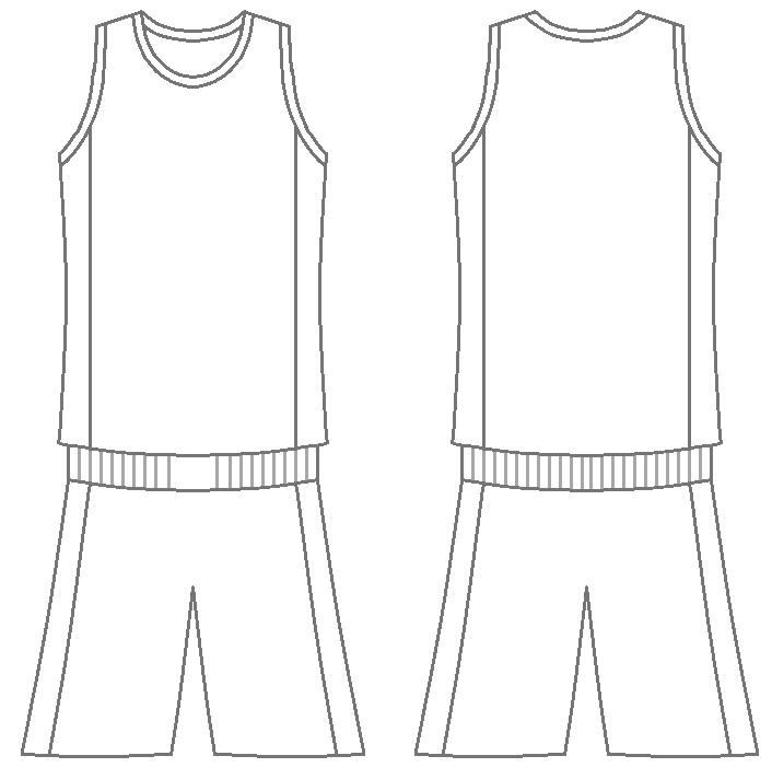 Blank Basketball Jersey.
