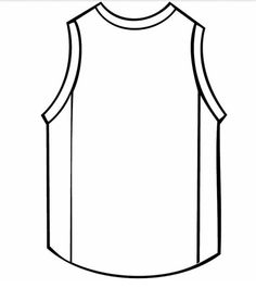 Jersey Cake Template.