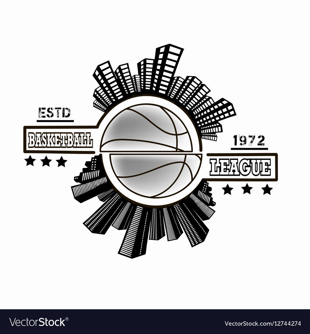 Logo basketball league.
