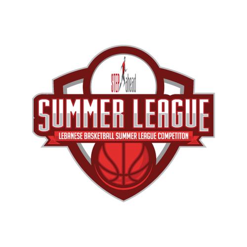 Basketball Summer League Logo.