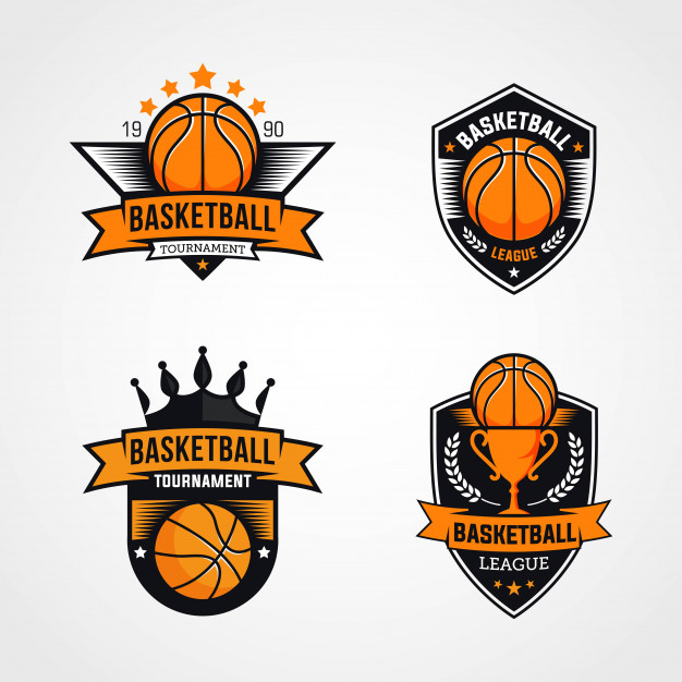 Basketball tournament logos Vector.