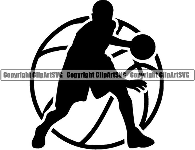 Basketball Logo #2 Player Ball Hoop Net Ball Sports Game Icon School League  Banner .SVG .EPS .PNG Digital Clipart Vector Cricut Cut Download.