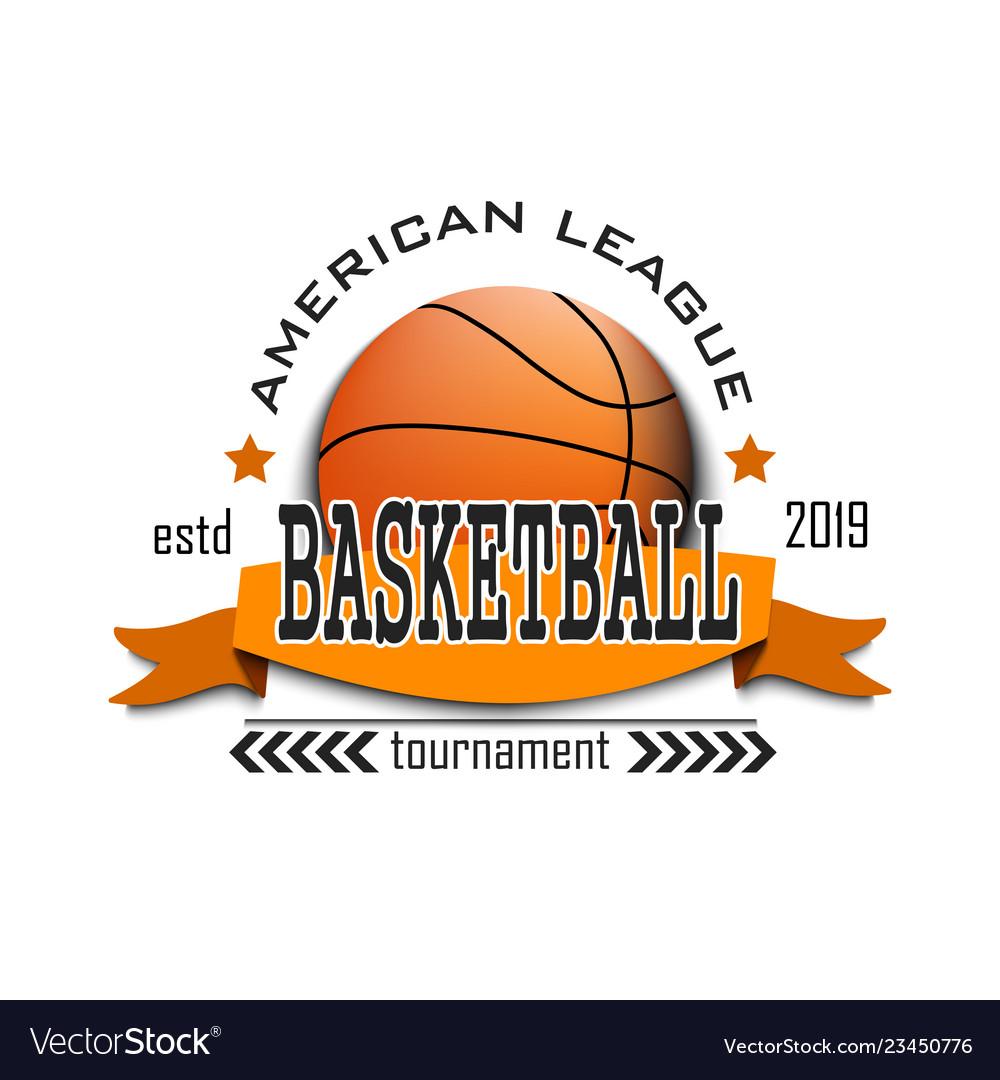 Basketball logo design template.