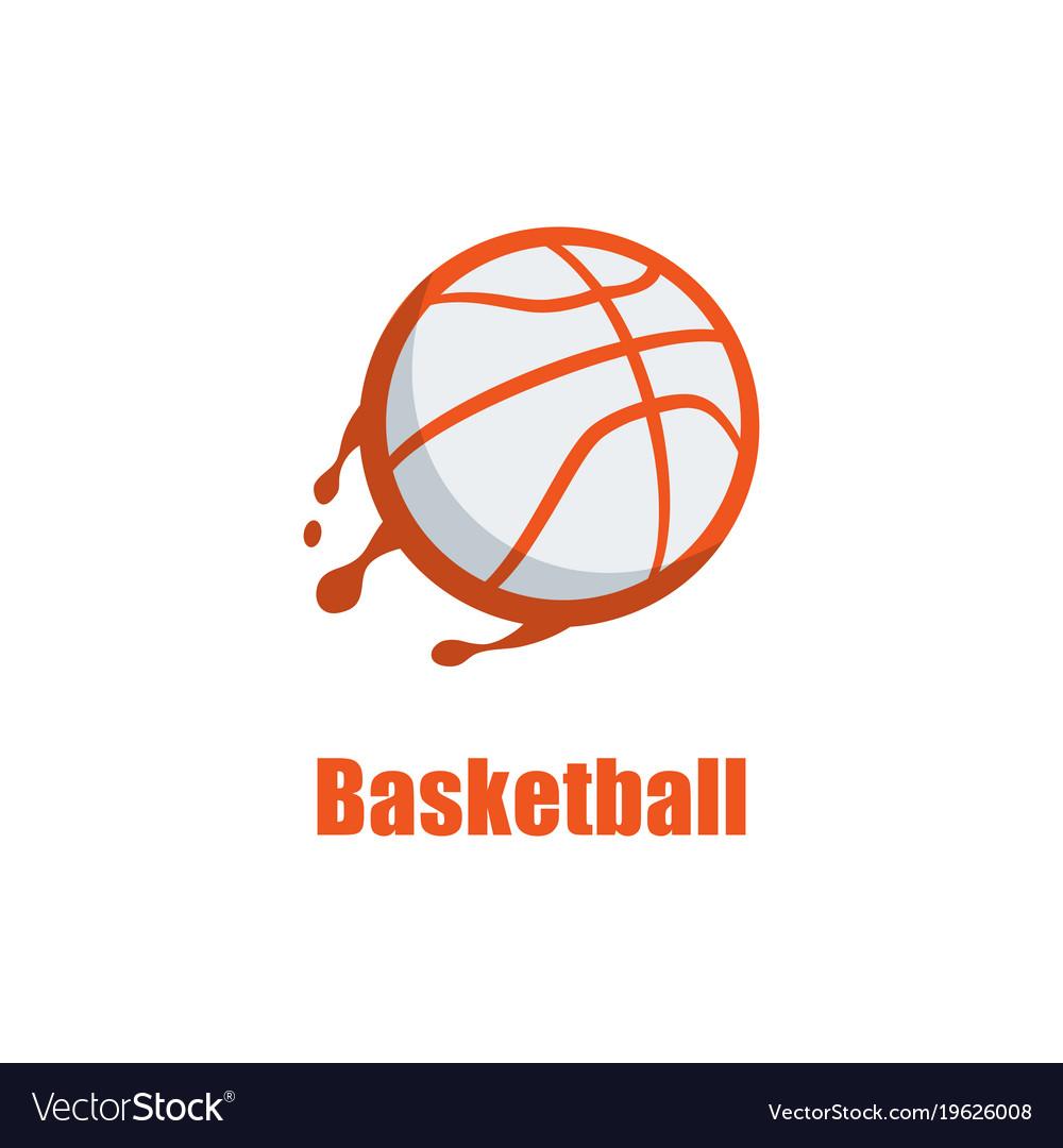 Silhouette of basketball ball basketball logo.