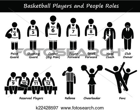 Clip Art of Basketball Players Team Cliparts k22428597.