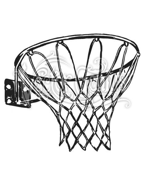 Basketball Net Clip Art.