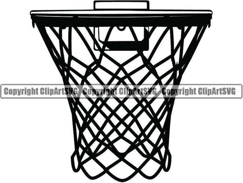 Basketball Hoop #12 Backboard Goal Rim Basket Ball Net Sports Game Icon  Logo Equipment School Logo.SVG.PNG Clipart Vector Cricut Cut Cutting.