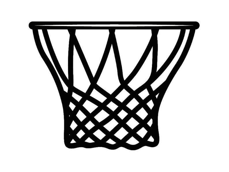 Basketball Hoop #5 Backboard Goal Rim Basket Ball Net Sports Game Icon  Logo.SVG .EPS .PNG Instant Digital Clipart Vector Cricut Cut Download.