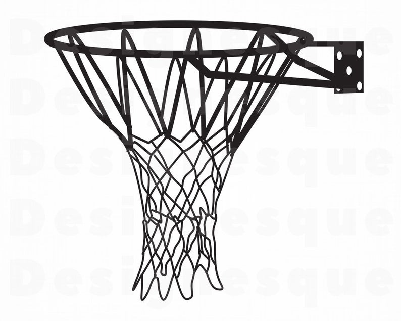 Basketball Hoop #3 SVG, Basketball Net SVG, Basketball Hoop Clipart,  Basketball Files for Cricut, Cut Files For Silhouette, Dxf, Png, Eps.