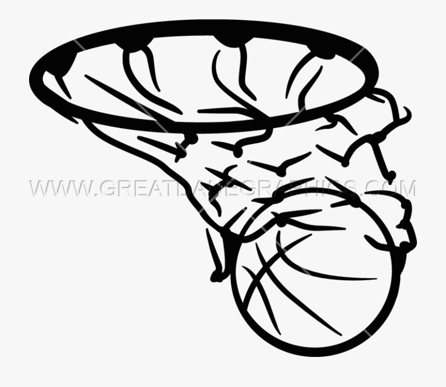 Basketball In Net Clipart , Transparent Cartoon, Free.