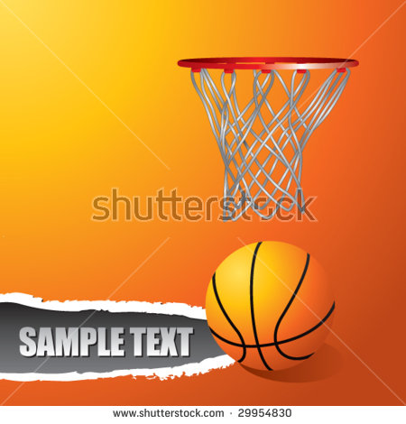 Ripped Basketball Net Clipart.