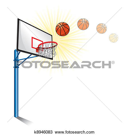 Clipart of basketball stand k8946083.